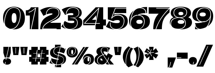 J.M. Nexus Grotesque Font OTHER CHARS