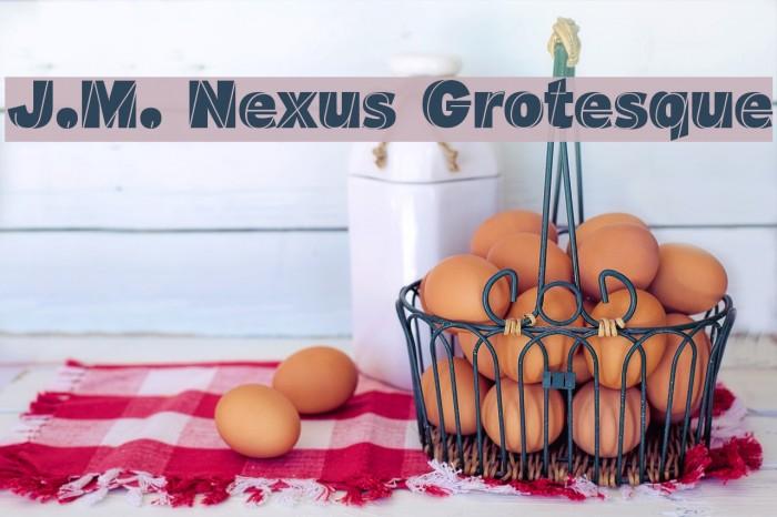 J.M. Nexus Grotesque Font examples