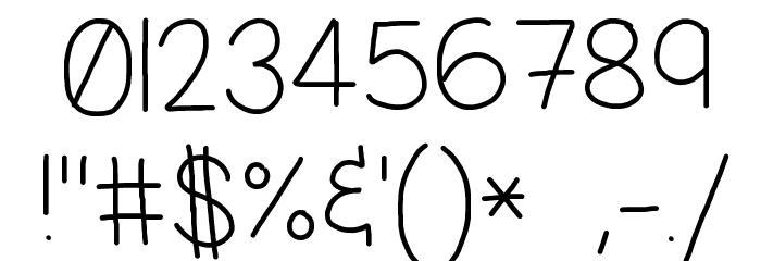 Jacquelyn's Hand Шрифта ДРУГИЕ символов