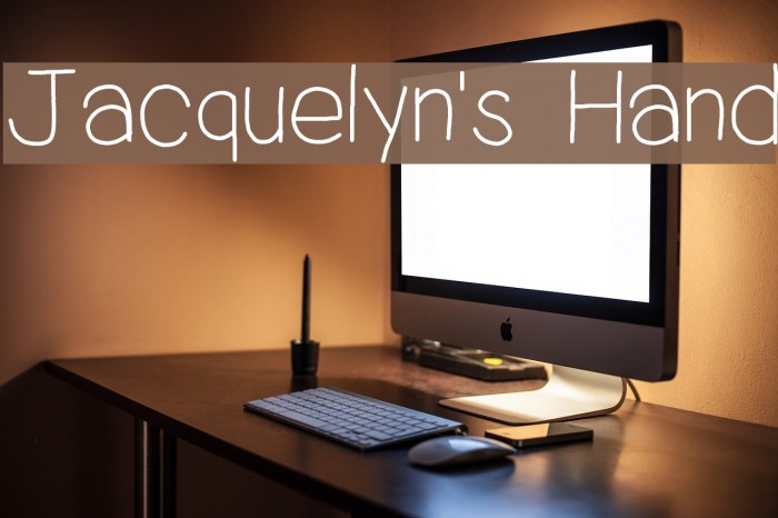 Jacquelyn's Hand Шрифта examples