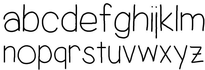Jacquelyn's Hand Font LOWERCASE