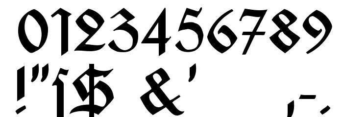 Jaecker-Schrift Font OTHER CHARS