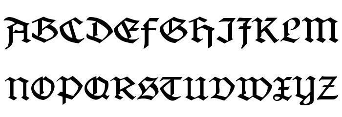 Jaecker-Schrift Font UPPERCASE