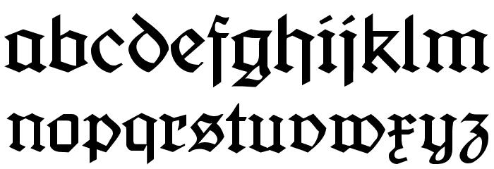Jaecker-Schrift Font LOWERCASE