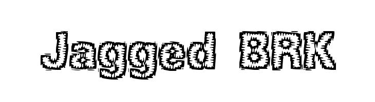 Jagged BRK  font caratteri gratis