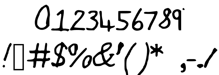 JakesWriting Font OTHER CHARS