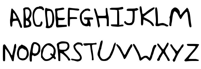 JakesWriting Font UPPERCASE