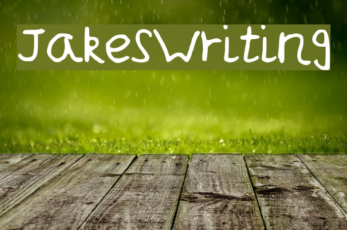 JakesWriting Font examples