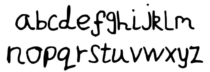 JakesWriting Font LOWERCASE