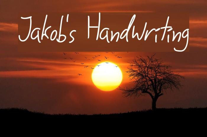 Jakob's Handwriting لخطوط تنزيل examples