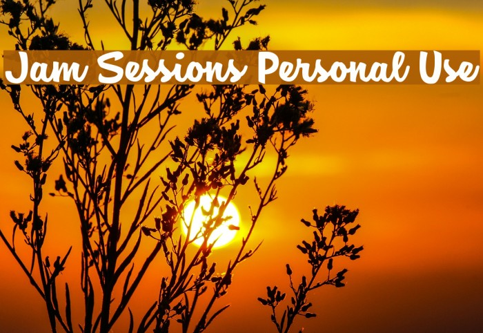 Jam Sessions Personal Use Font examples