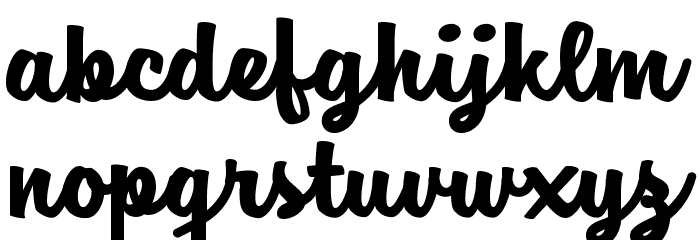 Jam Sessions Personal Use Font LOWERCASE