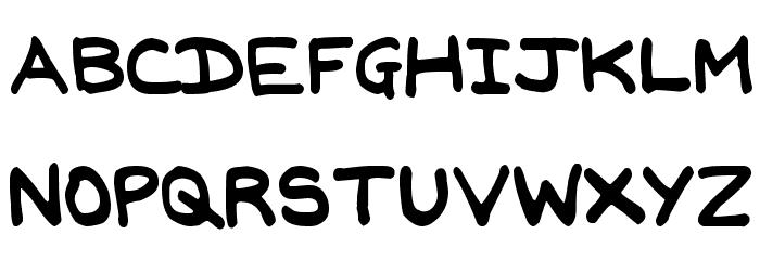 Jan Hand Font UPPERCASE