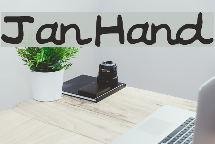 Jan Hand Font examples