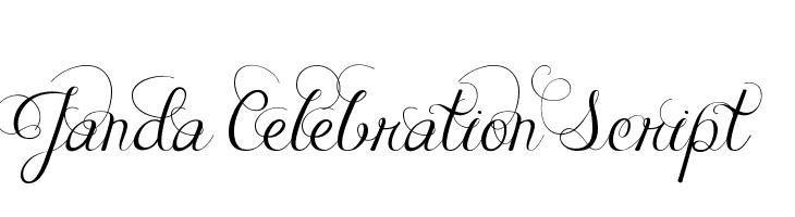 Janda Celebration Script  Free Fonts Download