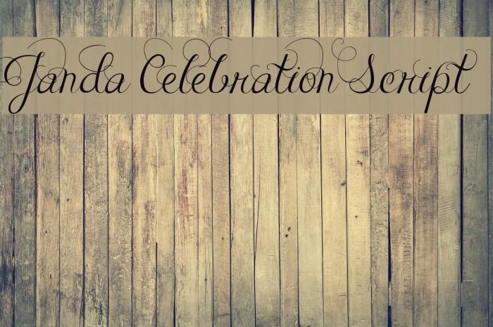 Janda Celebration Script Font Ffonts Net