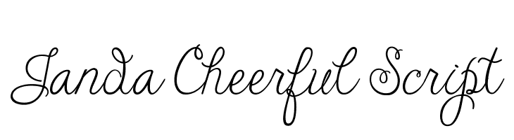 Janda Cheerful Script  Free Fonts Download