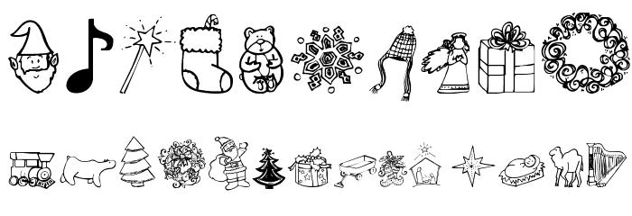 Janda Christmas Doodles Font OTHER CHARS