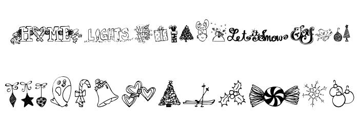 Janda Christmas Doodles Font UPPERCASE