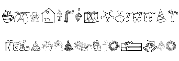 Janda Christmas Doodles Font LOWERCASE