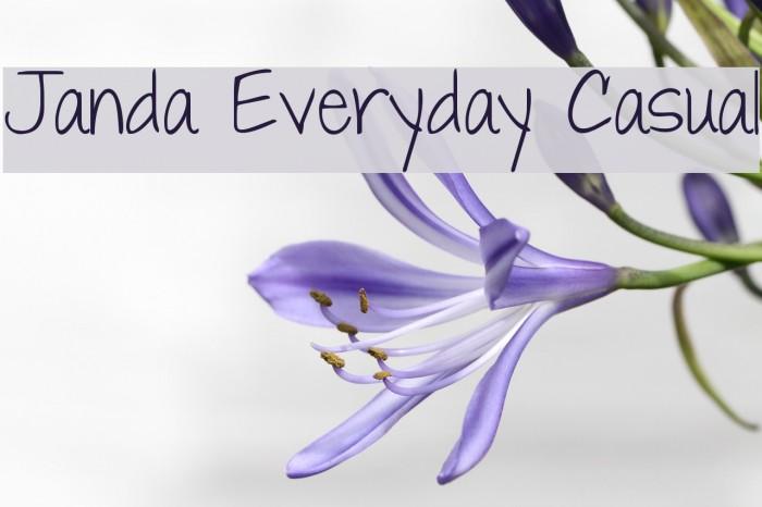 Janda Everyday Casual Font Ffonts Net