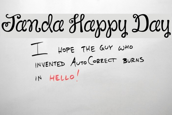 Janda Happy Day Font Ffonts Net