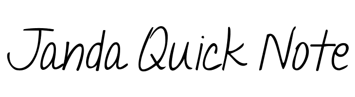 Janda Quick Note  font caratteri gratis