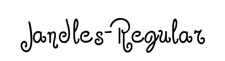 Jandles-Regular  Free Fonts Download