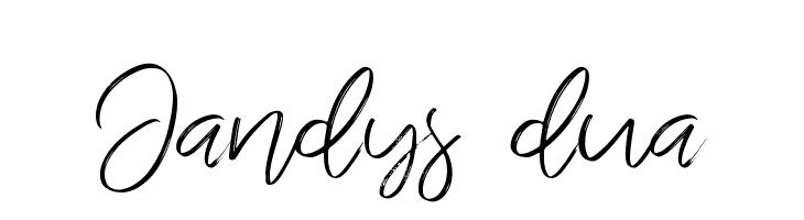 Jandys dua  font caratteri gratis