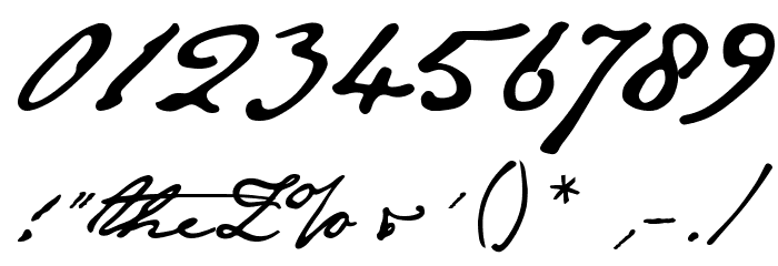 JaneAusten Font OTHER CHARS