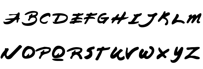 Japanese Brush Font UPPERCASE