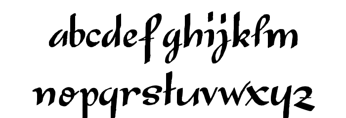 Japanese Tourist Font LOWERCASE