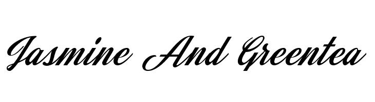 Jasmine And Greentea  Скачать бесплатные шрифты