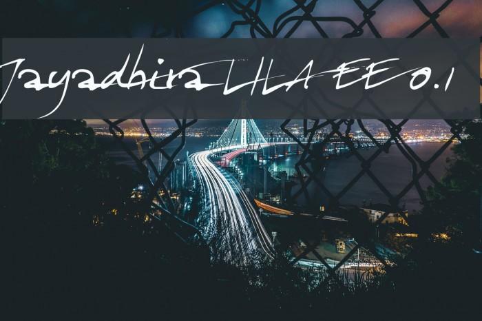 Jayadhira LILA EE 0.1 Font examples