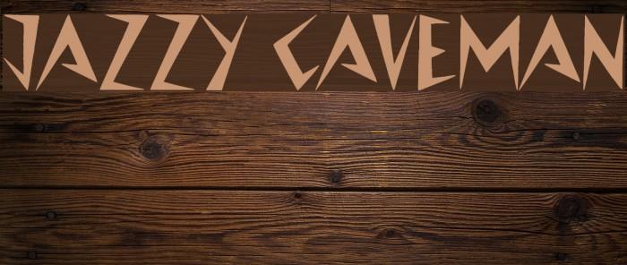 Jazzy Caveman Fonte examples