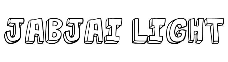 jabjai Light  Free Fonts Download