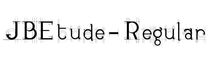 JBEtude-Regular  Free Fonts Download