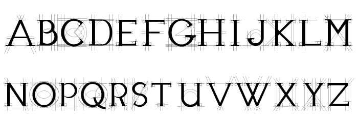JBEtude-Regular Font UPPERCASE