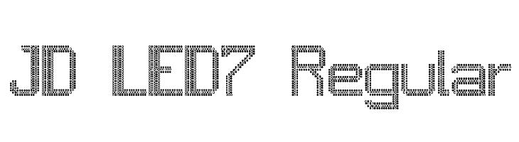 JD LED7 Regular  Скачать бесплатные шрифты