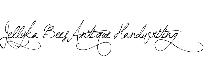 Jellyka BeesAntique Handwriting  नि: शुल्क फ़ॉन्ट्स डाउनलोड
