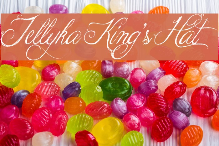 Jellyka King's Hat Fonte examples