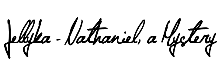 Jellyka - Nathaniel, a Mystery  font caratteri gratis