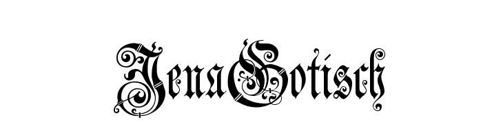 JenaGotisch  Скачать бесплатные шрифты