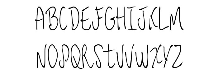 JessFont Font UPPERCASE