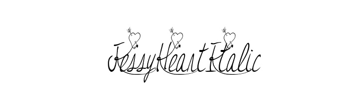 JessyHeartItalic  Free Fonts Download
