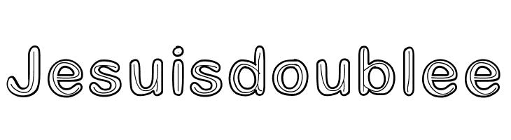 Jesuisdoublee Font