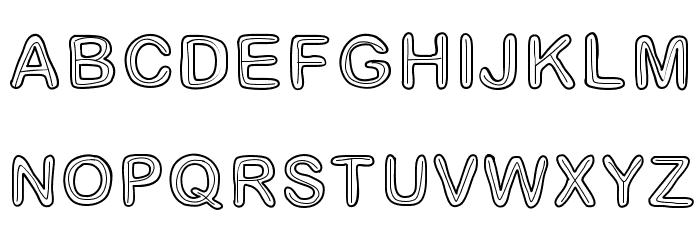Jesuisdoublee Font UPPERCASE