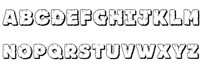 JFRockOutcrop Font LOWERCASE