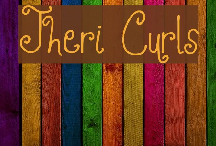 Jheri Curls फ़ॉन्ट examples