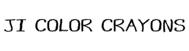 JI Color Crayons  Fuentes Gratis Descargar